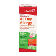 LEADER Children's All Day Allergy Relief Bubblegum Liquid 4 oz