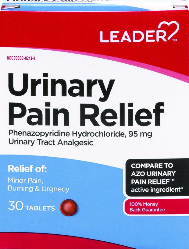 LEADER Urinary Pain Relief 95mg Tablets 30 ct