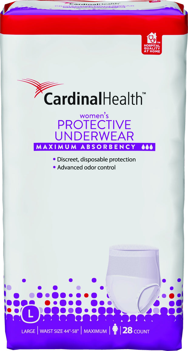 Cardinal Health Women's Protective Underwear Max Absorbency Large