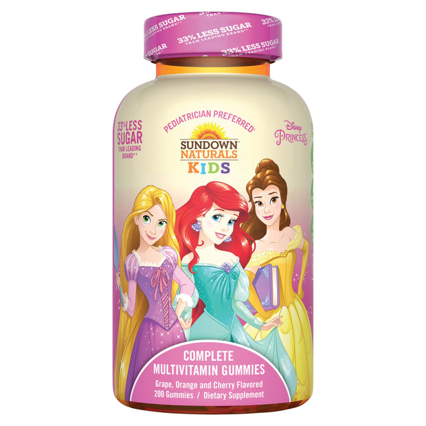 Sundown Naturals Kids Complete Multivitamin Gummies Princess 60 ct