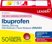 LEADER Ibuprofen Pain Reliever/Fever Reducer 200mg Coated Tablets