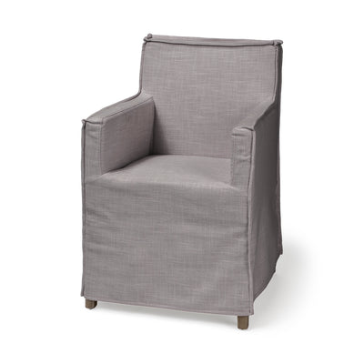 Gray Slip Cover Dining Chair