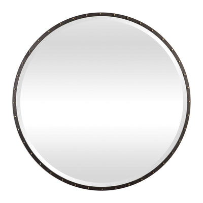 "42"" Industrial Round Mirror - Mix Home Mercantile"