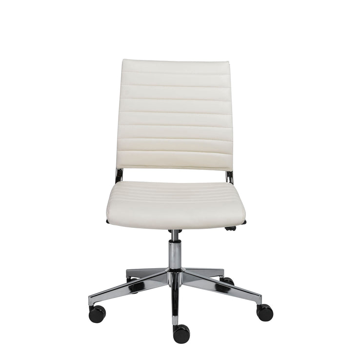 Faux Leather White Desk Chair - Mix Home Mercantile
