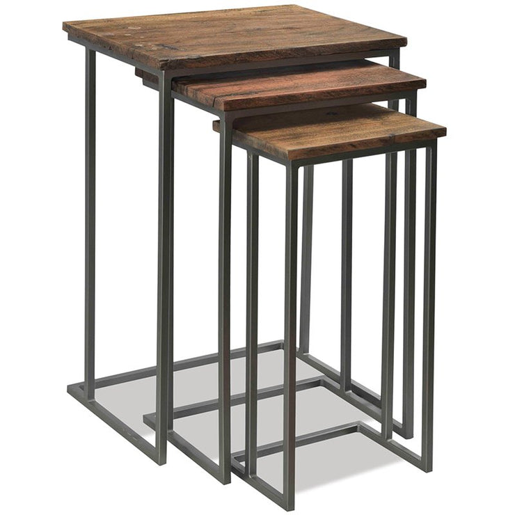 Wood and Metal Nesting Tables - Mix Home Mercantile