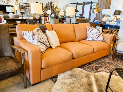 Track Arm Leather Sofa - Mix Home Mercantile