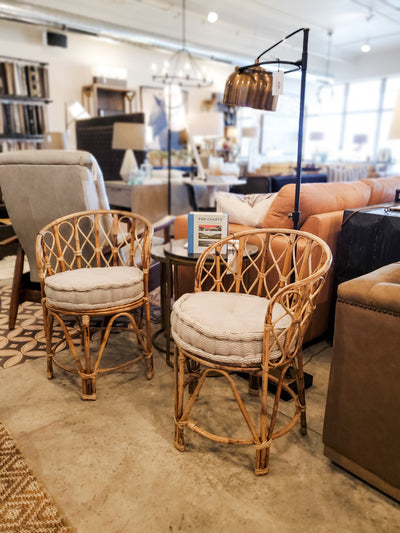 Barrel Shaped Bamboo Chair - Mix Home Mercantile