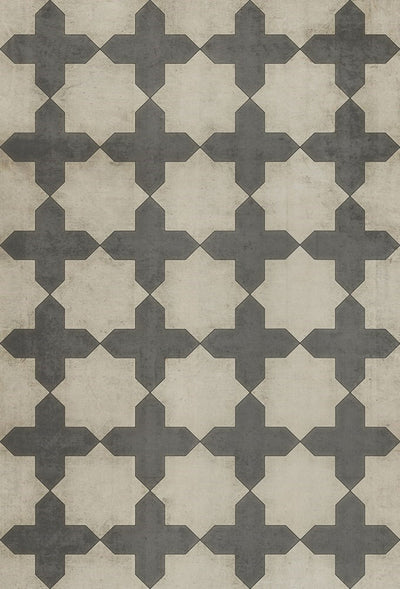 38 x 56 Vintage Vinyl Floor Cloth Simple as Doves - Mix Home Mercantile