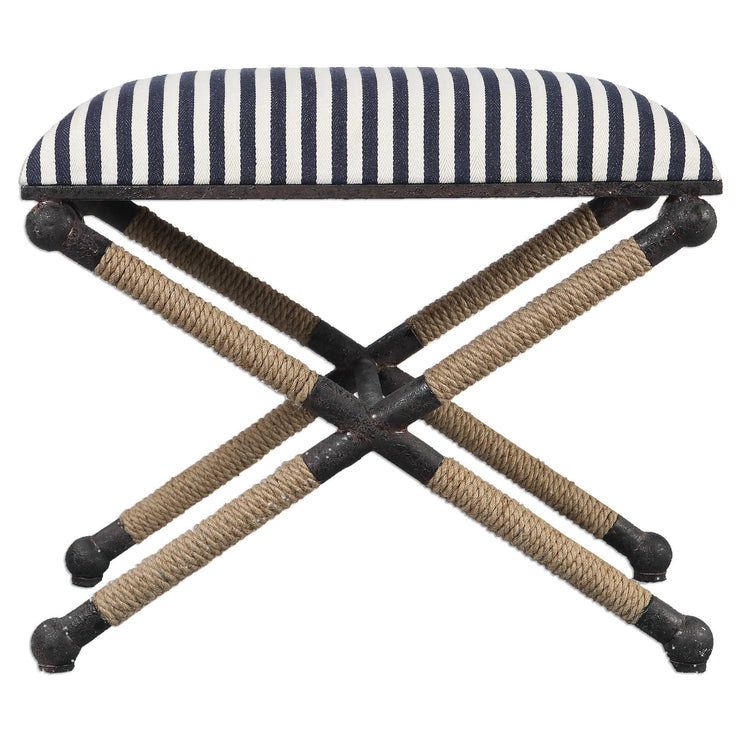 Striped Cotton Small Bench - Mix Home Mercantile