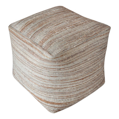 Natural Hemp Beige Pouf - Mix Home Mercantile