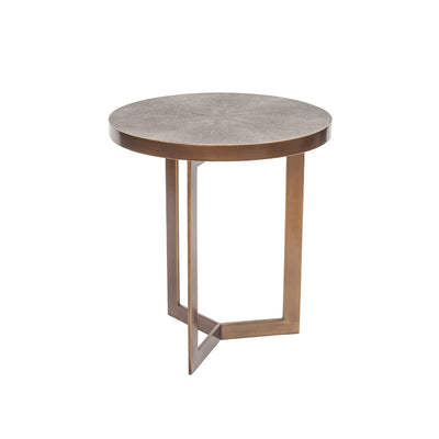 18.1 x 18.1 x 20.9 Ambiente Shagreen Side Table - Mix Home Mercantile