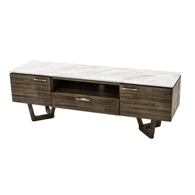 Walnut and Marble Media Unit - Mix Home Mercantile