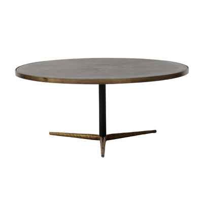 "36"" Brass Round Coffee Table - Mix Home Mercantile"
