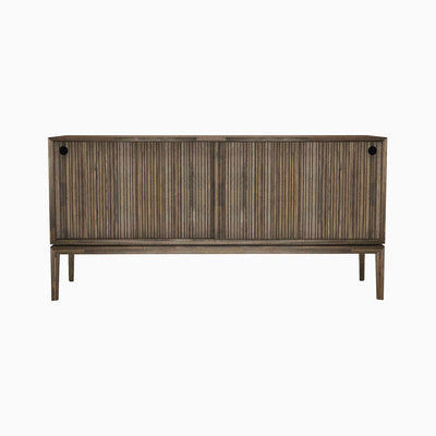 Acacia Wood Sideboard with Sliding Doors - Mix Home Mercantile