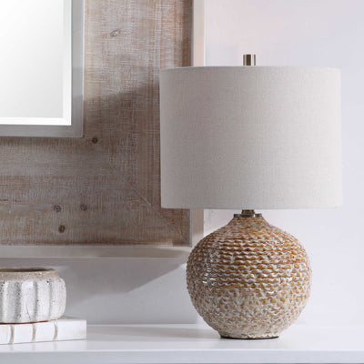 Ribbed Ceramic Table Lamp - Mix Home Mercantile
