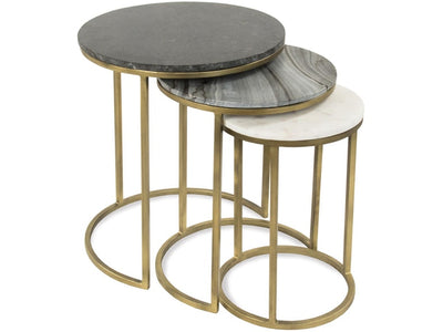 Brass Nesting End Tables - Mix Home Mercantile