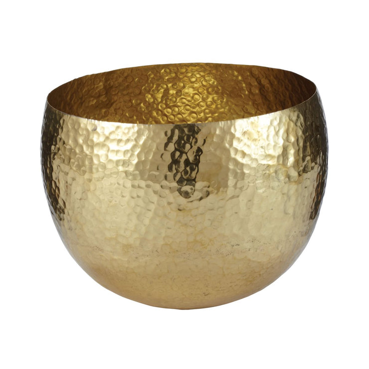 Small Hammered Brass Bowl in Gold - Mix Home Mercantile