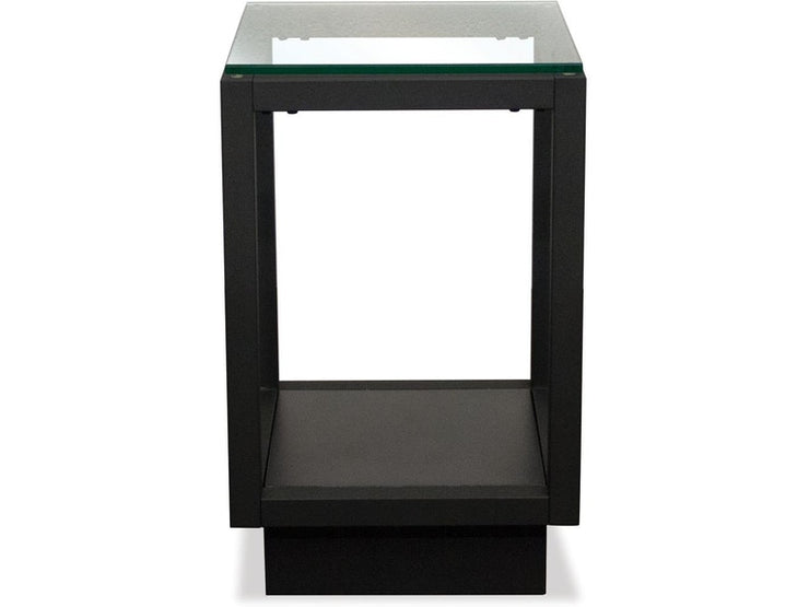 Glass Top Contemporary Chairside Table - Mix Home Mercantile