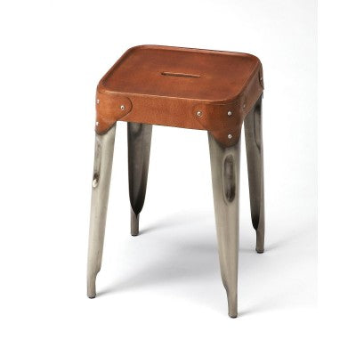 Leather Seat Stool - Mix Home Mercantile