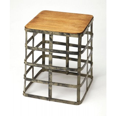 Metal and Wood Side Table - Mix Home Mercantile