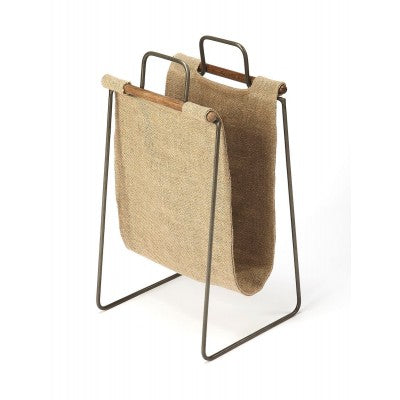 Canvas Magazine Basket - Mix Home Mercantile