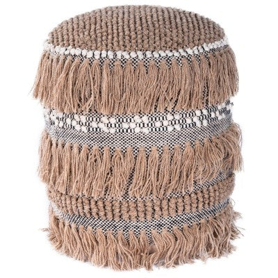 Bohemian Tassled Pouf - Mix Home Mercantile