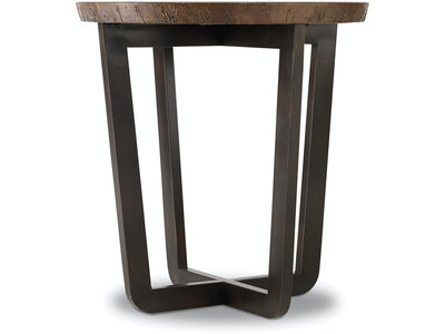 Aged Copper Top Round End Table - Mix Home Mercantile