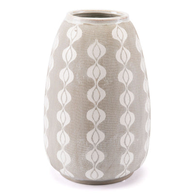 White and Gray Bohemian Bottle - Mix Home Mercantile