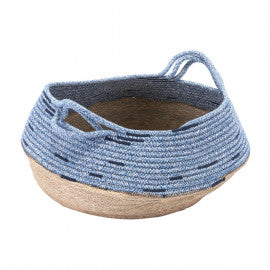 Blue and Beige Basket