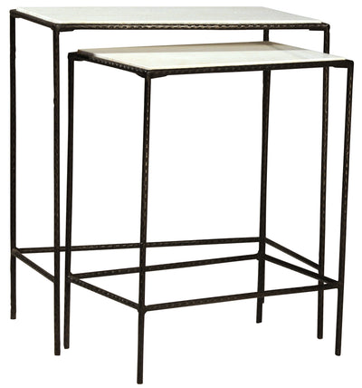 Marble and Iron Nesting Tables