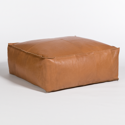 Leather Poof Coffee Table