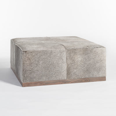 "40"" Square Hide Ottoman - Mix Home Mercantile"