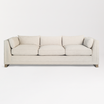 "92"" Sofa with Brass Legs - Mix Home Mercantile"