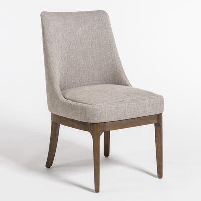 Upholstered Dining Chair with Wood Base - Mix Home Mercantile