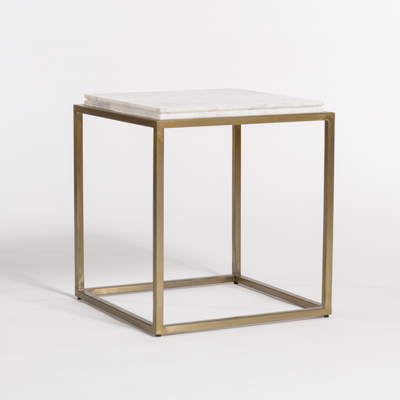 Brass and Marble End Table - Mix Home Mercantile