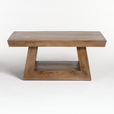 Solid Mango Wood Coffee Table - Mix Home Mercantile