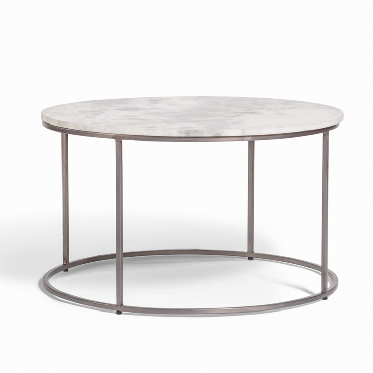 Round Marble Coffee Table - Mix Home Mercantile