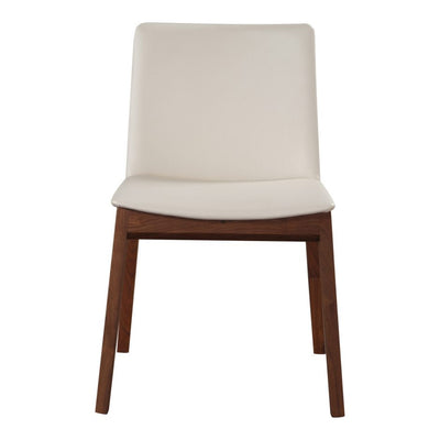 Faux Leather White Dining Chair - Mix Home Mercantile