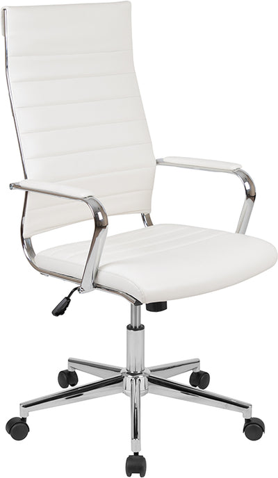 White Chrome Desk Chair - Mix Home Mercantile