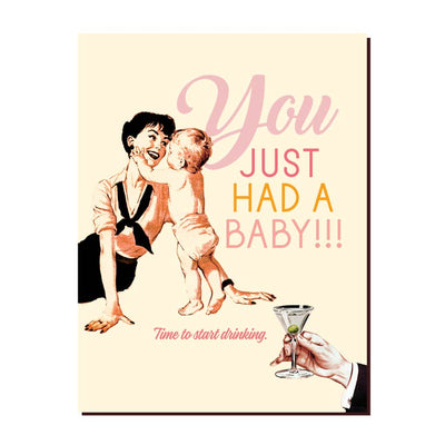 Baby Drinking Greeting Card - Mix Home Mercantile