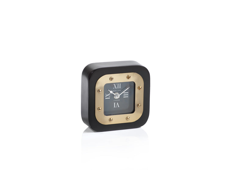 Black & Gold Modern Table Clock - Mix Home Mercantile