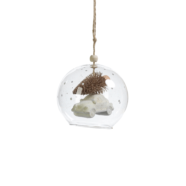 White Tree on Car Ornament - Mix Home Mercantile