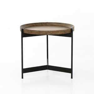 Light Burnt Oak End Table - Mix Home Mercantile