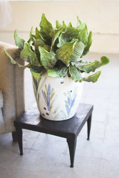 Hand Painted Ceramic Vase - Mix Home Mercantile
