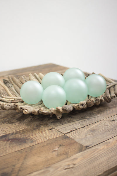 Clear Frosted Glass Balls - Mix Home Mercantile