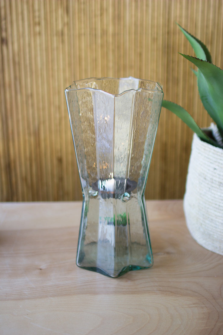 Medium Glass and Metal Candle Insert - Mix Home Mercantile