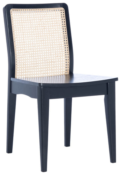 Black and Natural Rattan Dining Chair - Mix Home Mercantile