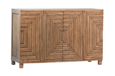 Four Door Beech Sideboard - Mix Home Mercantile
