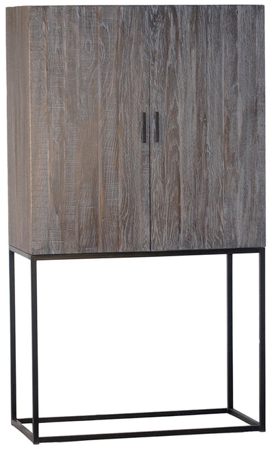 Reclaimed Wood and Metal Bar Cabinet - Mix Home Mercantile