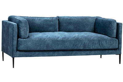 Blue Velvet Sofa - Mix Home Mercantile